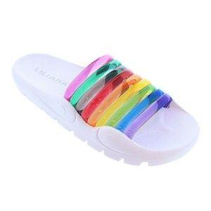 Liliana Shoes - NEW Liliana Jelly Rainbow Slide